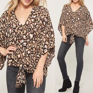 Tops - Leopard blouse ❗️SOLD ❗️